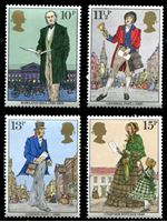 Изображение Великобритания 1979 г. Gb# 1095-8 • Роуленд Хилл, 100 лет со дня смерти • MNH OG XF • полн. серия