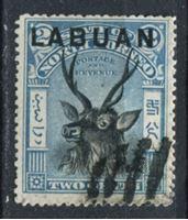 Изображение Лабуан 1894-96 гг. Gb# 63 • 2 c. • Олень (надпечатка) • Used XF