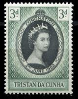 Изображение Тристан да Кунья 1953 г. Gb# 13 • Коронация Елизаветы II • 3 d. • MNH OG XF ( кат.- £1 )