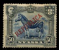 Изображение Ньяса 1921 г. SC# 89 • 5 c. на 50 rs. • Зебра (надпечатка нов. номинала) • MH OG VF