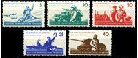 Изображение ГДР 1962 г. Mi# 876-80 • 5 - 40 pf. • 6-я годовщина создания Народной армии ГДР • MLH OG XF • полн. серия ( кат.- €3,5 )