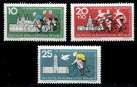 Изображение ГДР 1962 г. Mi# 886-8 • 10 - 25 pf. • Велогонка Дружбы • MLH OG XF • полн. серия ( кат.- €2 )