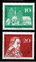 Изображение ГДР 1962 г. Mi# 889-90 • 10 и 20 pf. • Иоганн Готлиб Фихте (200 лет со дня рождения) • MLH OG XF • полн. серия ( кат.- €2 )