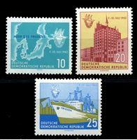 Изображение ГДР 1962 г. Mi# 898-900 • 10 - 25 pf. • Восточная морская неделя • MLH OG XF • полн. серия ( кат.- €3 )