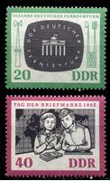 Изображение ГДР 1962 г. Mi# 923-4 • 20 и 40 pf. • День почтовой марки • MLH OG XF • полн. серия ( кат.- €2,5 )