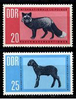 Изображение ГДР 1963 г. Mi# 945-6 • 20 и 25 pf. • Международный меховой аукцион • MLH OG XF • полн. серия ( кат.- €2 )