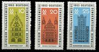 Изображение ГДР 1963 г. Mi# 947-9 • 10,20 и 25 pf. • Весенняя выставка в Лейпциге • MLH OG XF • полн. серия ( кат.- €2 )