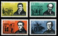 Изображение ГДР 1963 г. Mi# 952-5 • 5 - 25 pf. • Писатели и композиторы • MLH OG XF • полн. серия ( кат.- €2,5 )