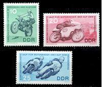 Изображение ГДР 1963 г. Mi# 972-4 • 10 - 25 pf. • Мотоспорт • MLH OG XF • полн. серия ( кат.- €5 )