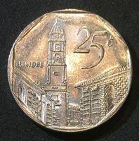 Bild von Куба 1998 г. • KM# 577.2 • 25 сентаво • конвертируемые • регулярный выпуск • BU