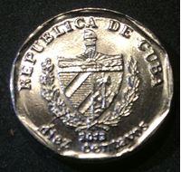Bild von Куба 2013 г. KM# 576.2 • 10 сентаво • конвертируемые • регулярный выпуск • MS BU люкс!