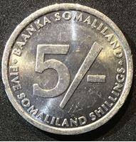 Bild von Сомали 2005 г. KM# 19 • 5 шиллингов • регулярный выпуск • слоны • MS BU