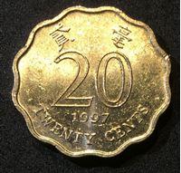 Bild von Гонконг 1997 г. KM# 67 • 20 центов • регулярный выпуск • цветы • BU