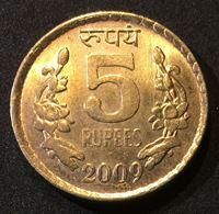 Bild von Индия 2009 г. KM# 373 • 5 рупий • регулярный выпуск • MS BU люкс! ( кат.- $5,00 )