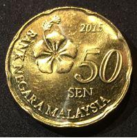 Bild von Малайзия 2015 г. • 50 центов • регулярный выпуск • MS BU