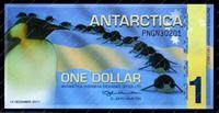 Изображение Антарктида(США) 2011г. P# • 1 доллар • 100 лет Южному полюсу • UNC пресс • полимер