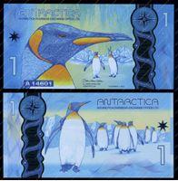 Изображение Антарктида(США) 2015г. P# • 1 доллар • пингвины • UNC пресс • полимер