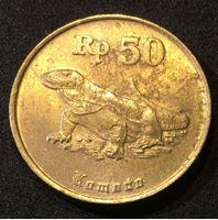 Bild von Индонезия 1994 г. KM# 52 • 50 рупий • регулярный выпуск • варан • BU