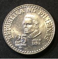 Bild von Филиппины 1980 г. KM# 227 • 25 сентимо • Хуан Луна • регулярный выпуск • MS BU