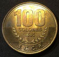 Bild von Коста Рика 2007 г. • KM# 240a • 100 колонов • герб Коста Рики • регулярный выпуск • MS BU ( кат.- $6,00 )