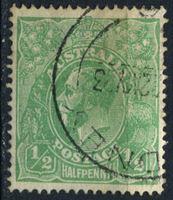 Bild von Австралия 1914-20 гг. Gb# 20 • 1/2d. • король Георг V • Used VF ( кат.- £1 )