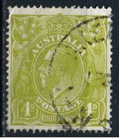 Изображение Австралия 1926-30 гг. Gb# 91 • 4d. • король Георг V (перф. - 14) • Used F-VF ( кат.- £40 )