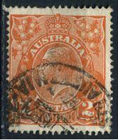 Изображение Австралия 1918-23 гг. Gb# 62 • 2d. • король Георг V (перф. - 14) • Used F-VF ( кат.- £1,25 )