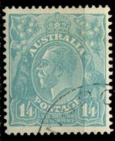 Picture of Австралия 1931-36 гг. Gb# 131 • 1s.4d. • король Георг V • Used XF ( кат.- £4 )
