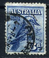 Изображение Австралия 1928 г. Gb# 106 • 3d. • смеющаяся кукабара • Used VF ( кат.- £7 )