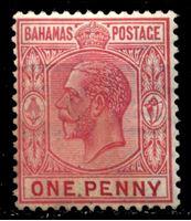 Picture of Багамы 1921-37 гг. Gb# 116 • 1d. • король Георг V • стандарт • MH OG VF