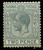Picture of Багамы 1921-37 гг. Gb# 118 • 2d. • король Георг V • стандарт • MLH OG VF