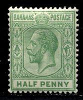 Picture of Багамы 1912-19 гг. Gb# 81a • 1/2d. • король Георг V • стандарт • MLH OG VF ( кат.- £3 )