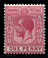 Picture of Багамы 1912-19 гг. Gb# 82 • 1d. • король Георг V • стандарт • MLH OG XF ( кат.- £3,5 )