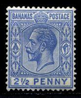 Picture of Багамы 1912-19 гг. Gb# 84 • 2 1/2d. • король Георг V • стандарт • MLH OG VF- ( кат.- £5 )