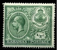 "Picture of Багамы 1920 г. Gb# 106 • 1/2d. • ""Празднование мира"" • MLH OG XF"