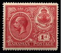 "Picture of Багамы 1920 г. Gb# 107 • 1d. • ""Празднование мира"" • MLH OG XF"