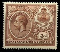 "Picture of Багамы 1920 г. Gb# 109 • 3d. • ""Празднование мира"" • MLH OG VF"