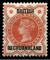 Bild von Бечуаналенд 1888 г. Gb# 9 • 1/2d. • надпечатка на марке Англии • MLH OG XF