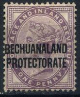 Picture of Бечуаналенд 1891-1904 гг. Gb# 33 • 1d. • надпечатка на марке Англии • MH OG VF ( кат.- £7 )