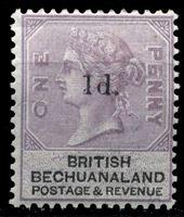 Picture of Бечуаналенд 1888 г. Gb# 22 • 1d. • надпечатка подтверждающего номинала • MH OG VF ( кат.- £8 )