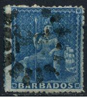 "Bild von Барбадос 1861-1870 гг. Gb# 24 • 1d. • ""Британия"" • Used XF"