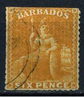 "Bild von Барбадос 1875-1880 гг. Gb# 79 • 6d. • ""Британия"" • Used F-"