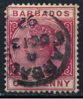 Bild von Барбадос 1882-1886 гг. Gb# 91 • 1d. • королева Виктория • Used F+