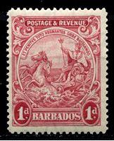 """Bild von Барбадос 1925-35 гг. Gb# 231 • 1d. • """"Правь Британия"""" • MNH OG XF"""