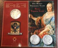 Bild von Австрия 1780 г. • KM# T1 • талер • торговый, образца 1780 г. (рестрайк) в буклете • Мария Терезия • герб Австрии • регулярный выпуск • MS BU люкс! • FS