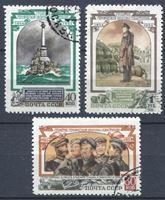 Picture of СССР 1954 г. Сол# 1790-2 • 100-летие обороны Севастополя • Used(ФГ) VF • полн. серия