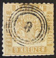 Изображение Баден 1865 г. Mi# 20 • 9 крон • Герб Бадена • Used VF-XF ( кат.- €35 )