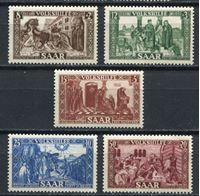Изображение Саар 1950 г. • Mi# 299-303 • Жизнь и деяния святого Лютвинуса • благотворительный выпуск • MNH OG XF • полн. серия ( кат.- € 75 )