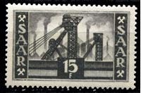 Picture of Саар 1952-55 гг. Mi# 327 • 15 fr. • Основной выпуск (архитектура и промышленность) • MLH OG XF ( кат.- €10 )