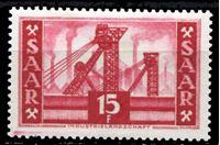 Picture of Саар 1952-55 гг. Mi# 329 • 15 fr. • Основной выпуск (архитектура и промышленность) • MLH OG XF